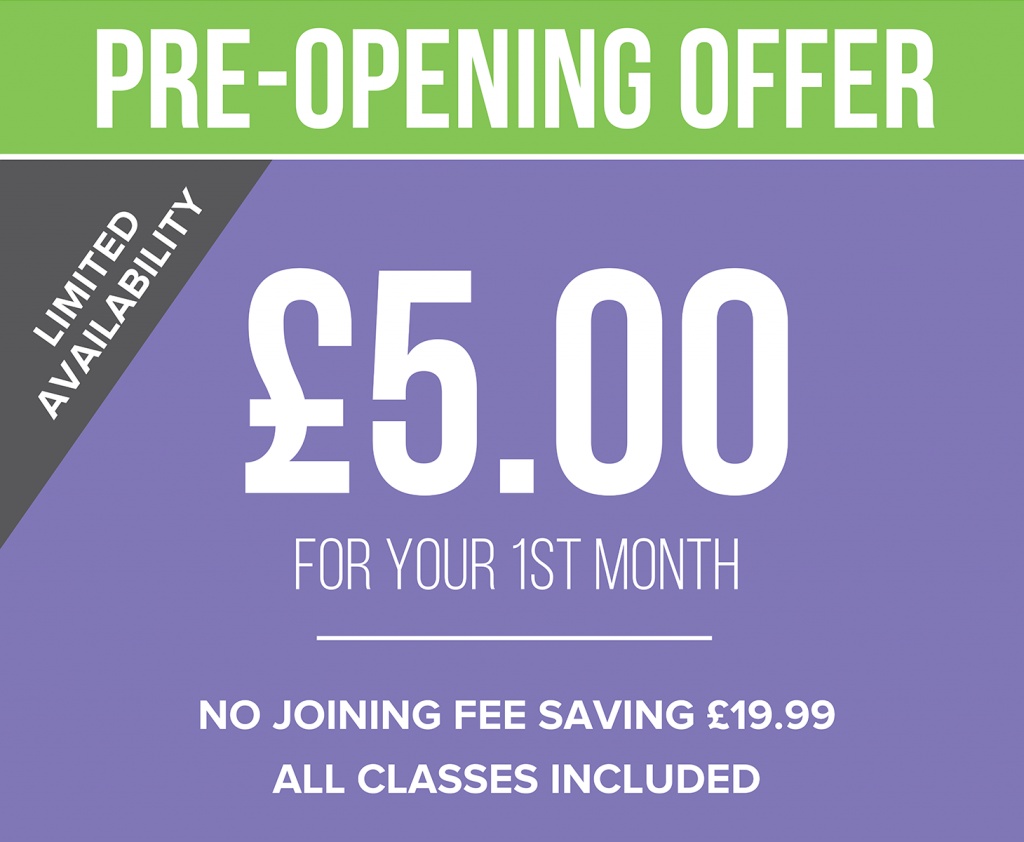 Simply Gym Cardiff Bay - Pre-Opening Offer - Only £5 for your first month!