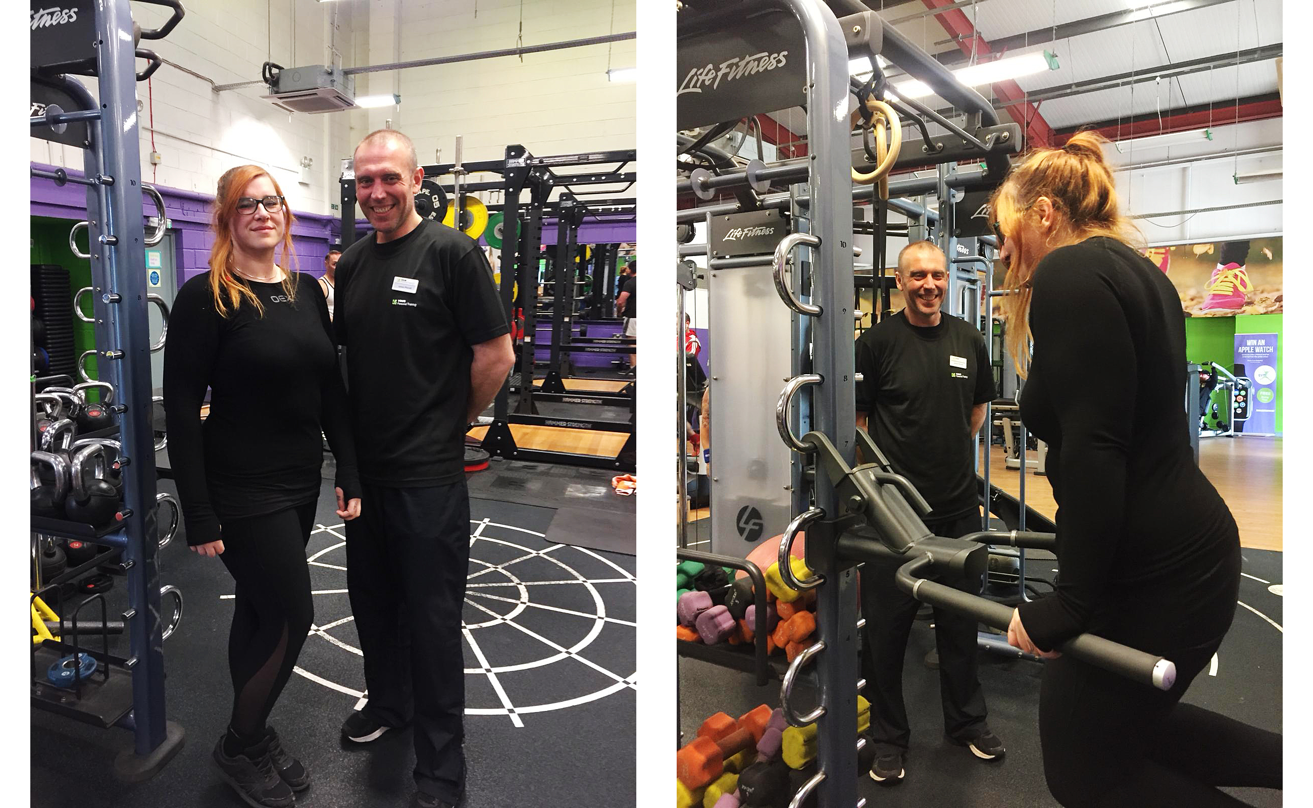 Laura and PT James at Simply Gym Llansamlet